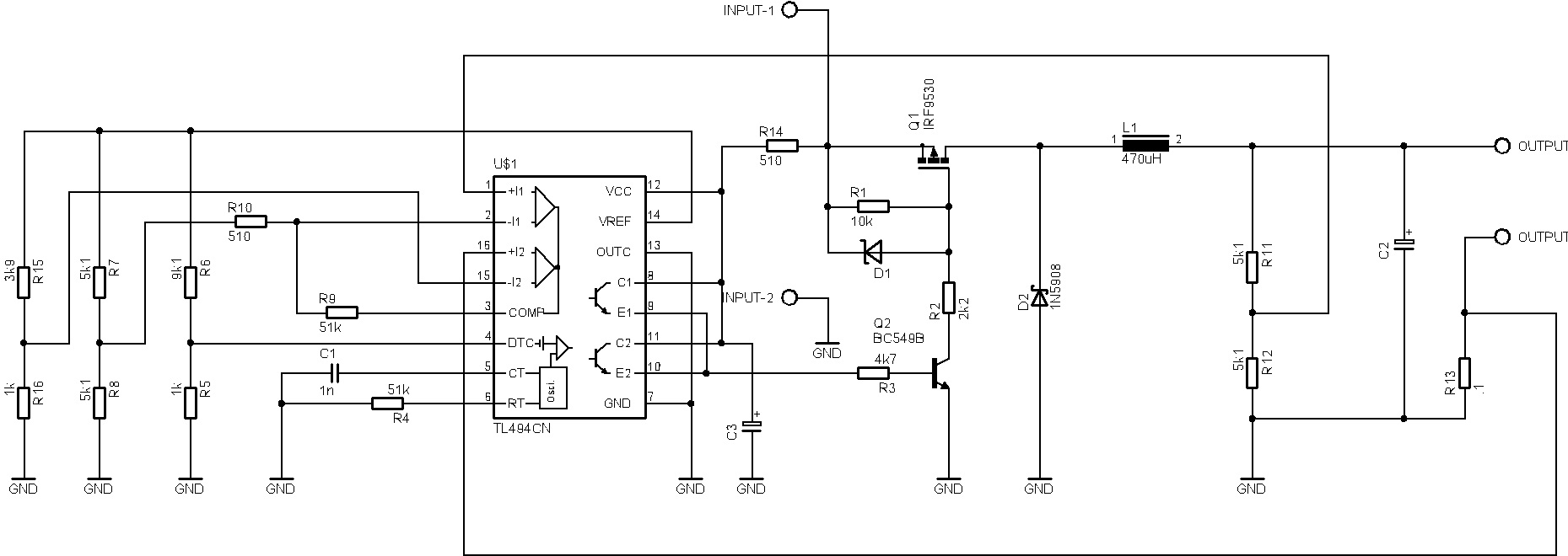 switching regulator dengan tl494